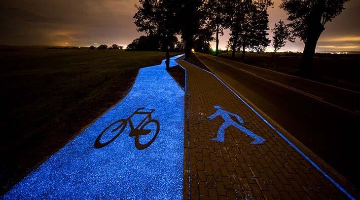 Pistele cu incarcare solara pentru biciclete, o solutie ingenioasa pentru plimbarile nocturne