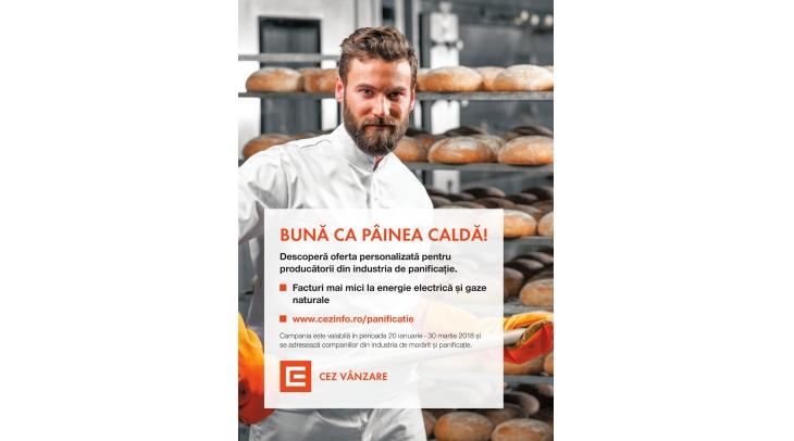 """""""Buna ca painea calda!"""" - oferta CEZ Vanzare pentru antreprenorii din industria de panificatie"""